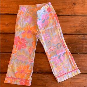 Gymboree floral bright pastels pants